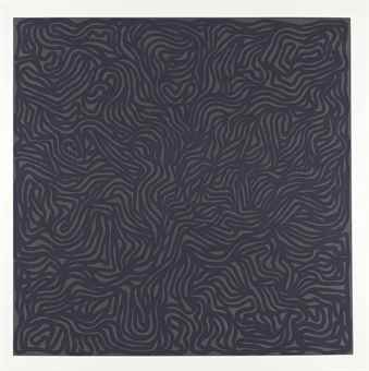 Sol LeWitt-Loops And Curves Gray/Gray-1999