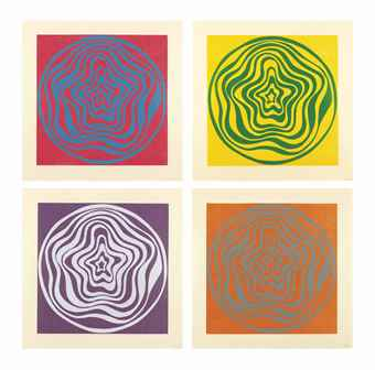 Sol LeWitt-Concentric Irregular Bands-1997