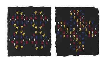 Mel Bochner-Counting: (Interlocking Squares)-1997