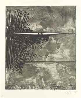 Jasper Johns-Painting With Two Balls (Grays)-1971