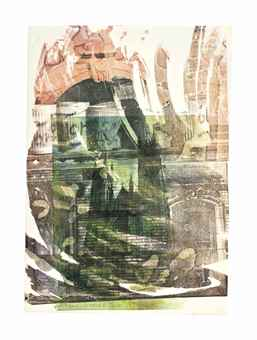 Robert Rauschenberg-St. John The Divine (Cathedral Print)-1993