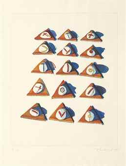 Wayne Thiebaud-Triangle Thins, From Seven Still Lifes And A Silver Landscape-1971