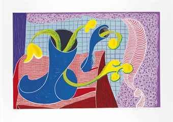 David Hockney-Four Flowers In Still Life-1990