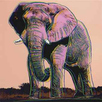 Andy Warhol-African Elephant, From Endangered Species-1983