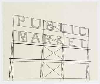Ed Ruscha-Public Market-2006