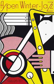 Roy Lichtenstein-Aspen Winter Jazz-1967
