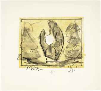 Claes Oldenburg-Standing Mitt With Ball-1973