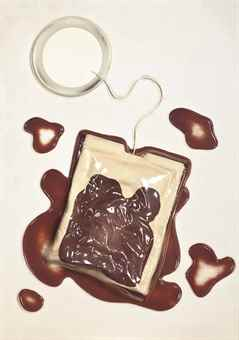 Claes Oldenburg-Tea Bag, From 4 On Plexiglas-1966