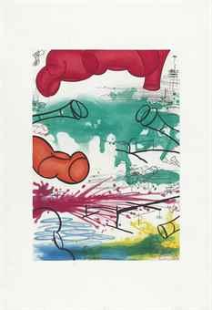 Carroll Dunham-Three Etchings-1987