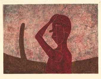 Rufino Tamayo-Busto En Rojo-1984