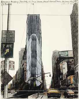 Christo and Jeanne-Claude-Wrapped Building, Project For 1 Times Square, New York-1985