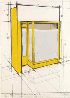 Christo and Jeanne-Claude-Yellow Store Front, Project-1980
