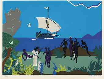 Romare Bearden-Siren'S Song From Odysseus-1979