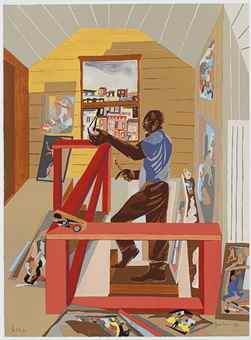 Jacob Lawrence-The Studio-1996