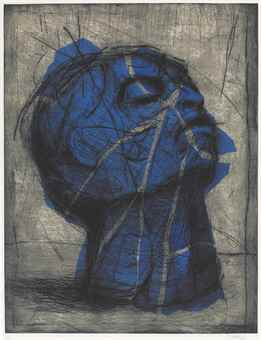 William Kentridge-Blue Head-1998