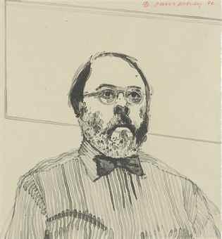 David Hockney-Henry In His Office-1976