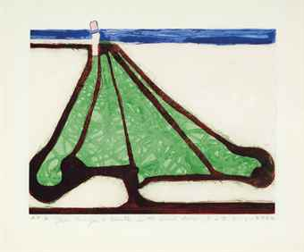 Richard Diebenkorn-Green Tree Spade, From Five Spades-1982