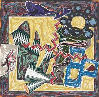 Frank Stella-Then Came A Fire And Burnt The Stick, Illustrations After El Lissitzky'S Had Gadya-1984