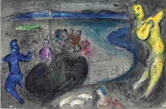 Marc Chagall-Le Songe Du Capitaine Bryaxis, From Daphnis Et Chloe-1961