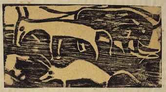 Christian Rohlfs-Tiere Auf Der Weide-1921