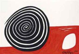 Alexander Calder-Rouge Feu-1974