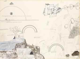 Saul Steinberg-Niagara-1966