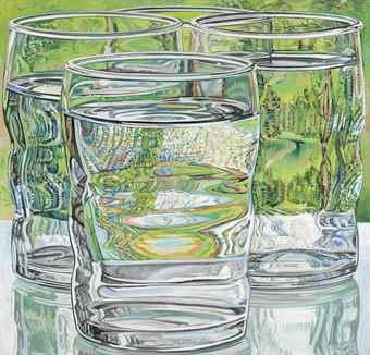Janet Fish-Skowhegan Water Glasses-1975