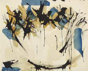 Norman Bluhm-Untitled (Blue, Black And Ochre)-1950