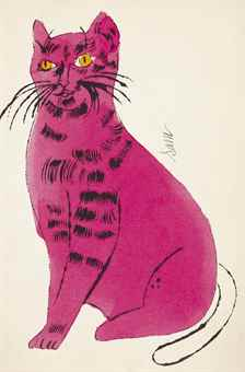 Andy Warhol-25 Cats Name[D] Sam And One Blue Pussy: One Plate-1954