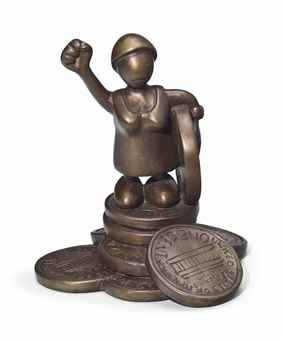 Tom Otterness-Woman With Raised Fist-1992