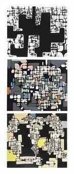 Ibram Lassaw-Untitled; Untitled; Untitled-1980