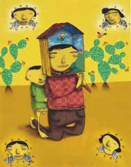 Os Gemeos-The Day When Mariovaldo Took A Shower In The Rain-2005