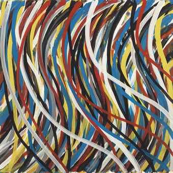 Sol LeWitt-Curvy Brushstrokes-1995
