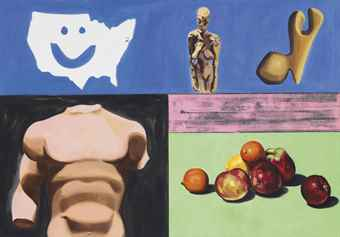David Salle-Still Life With Map-2002