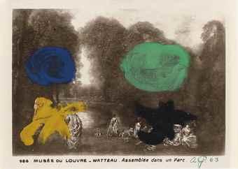 Adolph Gottlieb-Watteau, Assemblee Dans Un Parc-1963