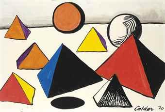 Alexander Calder-Pyramids And Worlds-1970