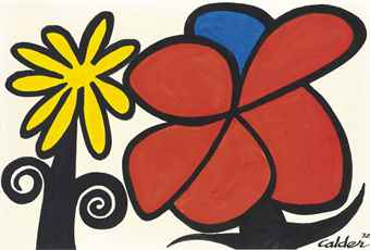 Alexander Calder-Yellow Flower, Red Flower-1972