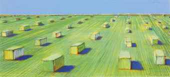 Wayne Thiebaud-Haystacks-1966