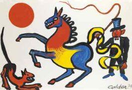 Alexander Calder-Tricolored Horse-1974