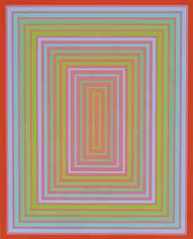Richard Anuszkiewicz-Rose Red Centered-1977