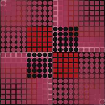Victor Vasarely-Chand-R-1982