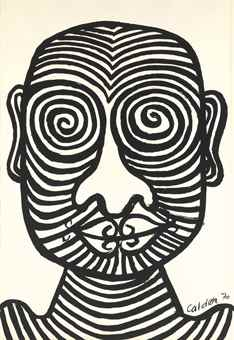 Alexander Calder-Tattooed Man-1970