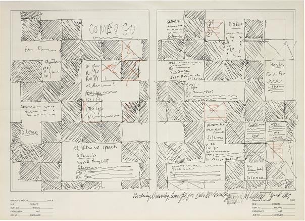 Sol LeWitt-Working Drawing, Come & Go, For Dale Mcconathy (Harper'S Bazaar)-1969