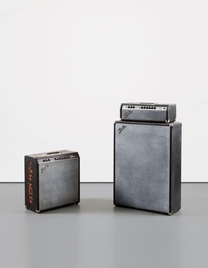 Kaz Oshiro-Two Works: (I) Fender Reverb #2, 2003; (II) Fender Showman Amp With Cabinet #2 (Duct Tape & Cigarette Burn)-2002