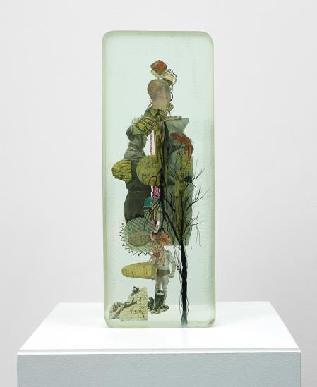Dustin Yellin-Porcelain Pagoda-2011