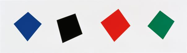 Ellsworth Kelly-Blue/Black/Red/Green-2001