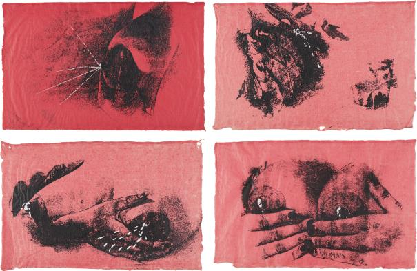 Kiki Smith-Untitled (Pink Bosoms)-1990