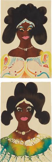 Chris Ofili-Two Works: (I) Untitled; (Ii) Untitled-2001