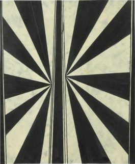 Mark Grotjahn-Untitled (Black And White Butterfly 330)-2004