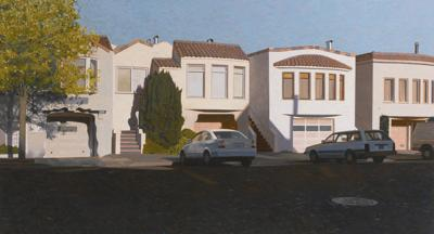 Robert Bechtle-Four Houses On Pennsylvania Avenue-2012